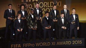 Seleção FIFPro World XI AWARD 2015
