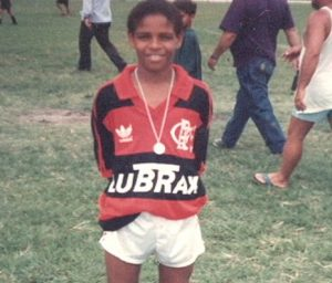 Adriano nas categorias de base do Flamengo