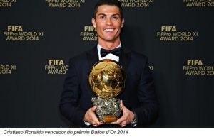 Cristiano Ronaldo vencedor do prêmio Ballon d'Or 2014