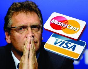 Valcke negociou com a VISA, mas a FIFA tinha acordo com a MasterCard