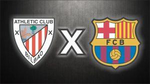 Athletic Bilbao x Barcelona, uma das disputas das quartas de final.