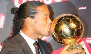 Ronaldinho vencedor do Ballon d'Or 2005