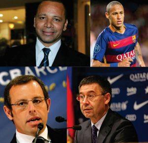 Neymar_sonegacaoNeymar pai, Neymar Jr, Sandro Rosell e Josep Bartomeu estão sendo investigados.