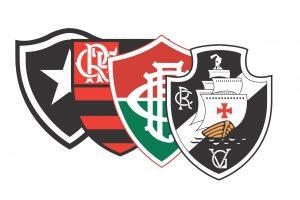 Os escudos dos quatro favoritos ao título de campeão de 2016