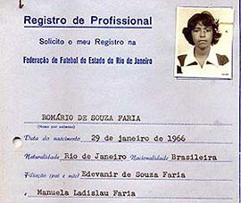 Registro na Federação de Futebol do Estado do Rio de Janeiro