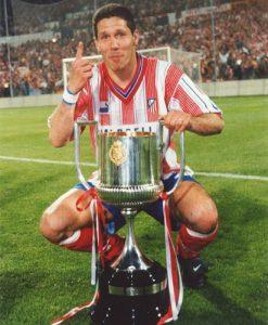 Diego Simeone venceu a Copa do Rei pelo Atlético de Madrid