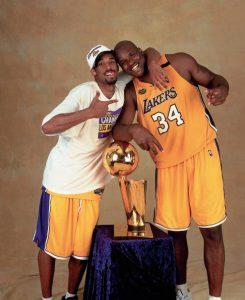 Kobe e Shaq: primeira conquista