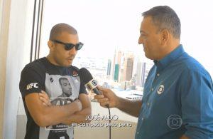 Aldo em entrevista após perder o cinturão de campeão para MacGregor.