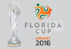 Imagem da taça e logo do torneio Flórida Cup.