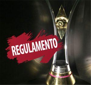 Taça do campeonato brasileiro de futebol feminino.