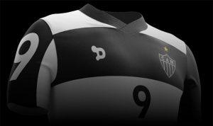 Símbolo do patrocinador na camisa Atleticana