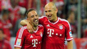 Dupla 'Robbery' (Franck Ribery e Arjen Robben).