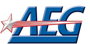 Logo da empresa norte-americana AEG.