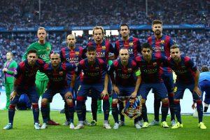 Barcelona Pentacampeão da UEFA Champions League (2014-15).