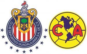 Escudos do Chivas Guadalajara e do América, ambos os times mexicanos estão na 2ª e 3ª posição respectivamente.