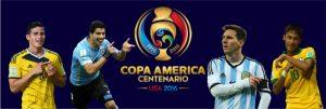 James Rodriguez, Luis Suárez, Messi e Neymar estarão na Copa América.