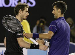 Novak Djokovic e Andy Murray, finalistas do Aberto da Austrália 2016.