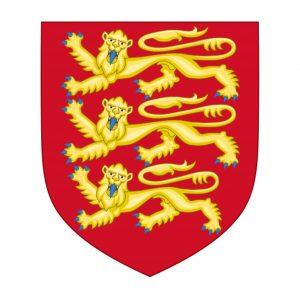 Escudo usado pelo Rei Ricardo I no século XII. Uma identidade nacional para os ingleses até os dias de hoje.