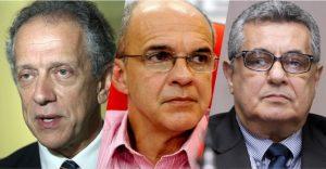 Walter Feldman (CBF) ,Eduardo Mello (Flamengo) e Rubens Lopes (FERJ).