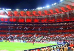 Torcida do Flamengo no Maracanã.