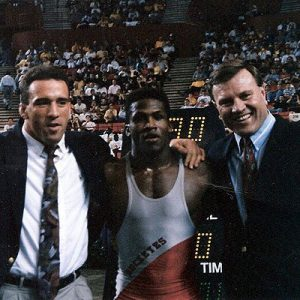 : Kevin Randleman com seu mentor Mark Coleman a esquerda. (início de carreira)