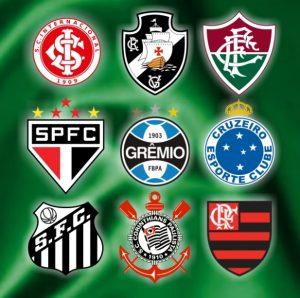 Nove dos maiores detentores de títulos nacionais do futebol brasileiro.