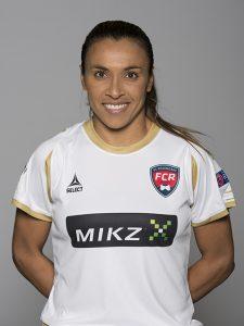 Marta com a camisa do seu atual time, o FC Rosengard.