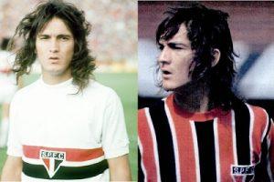 Muricy com cabelos longos, jogando pelo São Paulo.