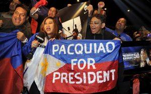 Filipinos pedem Pacquiao para presidente.