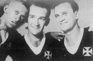 """""""Trio de ouro"""" do Vasco. Alfredo, Viladoniga e Gandulla (à direita)"""