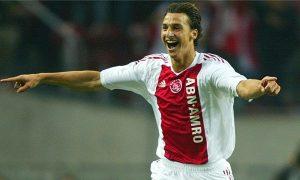 O jovem Ibrahimovic atuando pelo Ajax