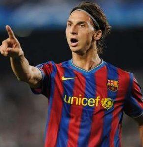 Desta vez Ibrahimovic buscava a Champions pelo Barcelona