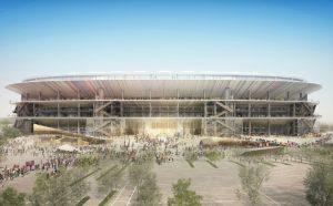 Visão da área externa do projeto do novo Camp Nou.