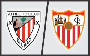 Escudos: Athletic Bilbao (Espanha) e Sevilla (Espanha)