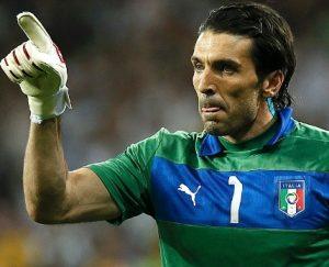 Buffon, goleiro da seleção da Itália.