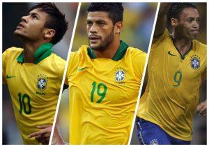 Neymar, Hulk e Ricardo Oliveira.