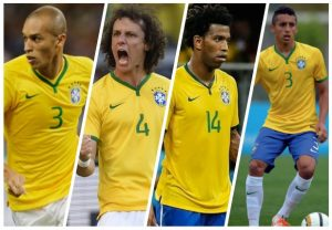 Miranda, David Luiz, Gil, Marquinhos.