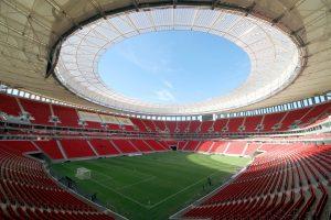 Estádio Mané Garrincha em Brasília, o preferido do Flamengo para mandar seus jogos.