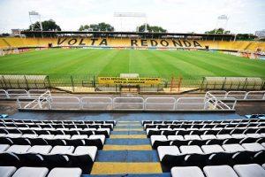 Estádio Raulino de Oliveira em Volta Redonda, usado atualmente pela dupla Fla-Flu.
