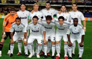 Kaká no Real Madrid em 2010 junto de Cristiano Ronaldo e Marcelo.
