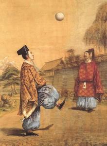 Imagens ilustrativas sobre o Kemari – Japão.