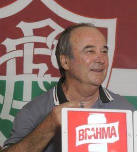 Levir Culpi na apresentação do Fluminense, sua nova equipe.