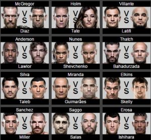 Card do UFC 196