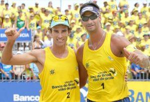 Emanuel e Ricardo formaram uma das melhores duplas do vôlei de praia brasileiro.