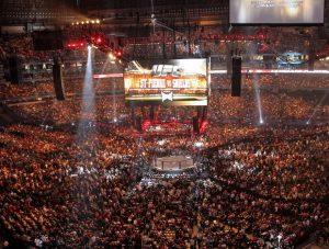 Imagem do público do UFC 129: St. Pierre vs. Shields.