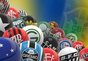 Escudos dos times do Brasileirão 2016.