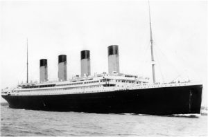 Foto do Navio Titanic 1912.