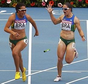 Vanda Gomes (a esquerda) também caiu no doping em 2014.