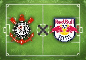 Escudos do Corinthians e Red Bull Brasil.