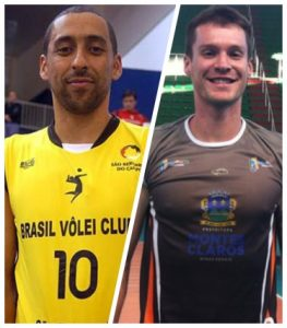 Os líberos Serginho e Tiago.